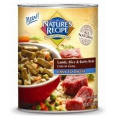 Nature's Recipe Easy to Digest Lamb, Rice & Barley Recipe Cuts in Gravy Canned Dog Food by Nature's Recipe ~ To check this awesome product by going to the link at the image. (This is an affiliate link and I receive a commission for the sales)