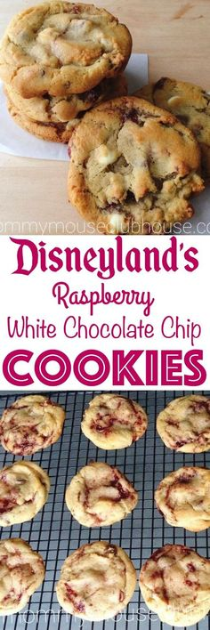 The best chewy raspberry white chocolate chip cookies recipe from scratch. Copycat of the cookies from Disneyland. The best chewy raspberry white chocolate chip cookies recipe from scratch. Copycat of the cookies from Disneyland. Chocolate Chip Cookies Recipe From Scratch, Cookie Recipes From Scratch, White Chocolate Chip Cookies, Chip Cookie Recipe, White Chocolate Raspberry, Chocolate Desserts, Cake Chocolate, Chocolate Muffins, Chocolate Mouse