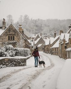 english countryside winter cotswolds castle combe in snow snowmaggedon england katya jackson whippet England Countryside, British Countryside, English Villages, English Castles, London Snow, Winter Szenen, Winter Walk, England Winter, Castle Combe