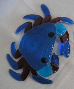 Crab Fused Glass Jewelry, Fused Glass Art, Mosaic Glass, Stained Glass, Slumped Glass, Dichroic Glass, Glass Fusion Ideas, Glass Beach, Fire Art
