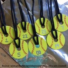 """Create a gift for the whole softball team with this fun, simple, and inexpensive DIY project Originally posted by Kirsten Dreese on Pinterest Supplies Needed (all readily available at your local Walmart): Fender washers (1-1/4"""" diameter with 1/4"""" hole)..."""