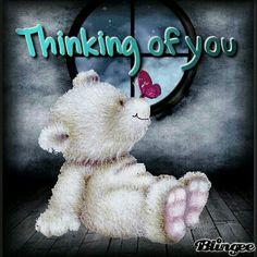 Thinking Of You Teddy Bear Glitter