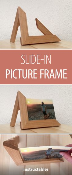 Slide-In Picture Frame #decor #woodworking #photography