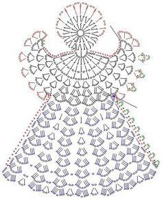 Crochet Christmas Ornaments, Christmas Crochet Patterns, Christmas Angels, Thread Crochet, Crochet Stitches, Crochet Hooks, Doily Patterns, Crochet Blanket Patterns, Crochet Tablecloth