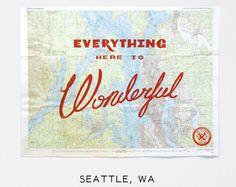 Wonderful Silk Screened Maps by Best Made Company - Seattle