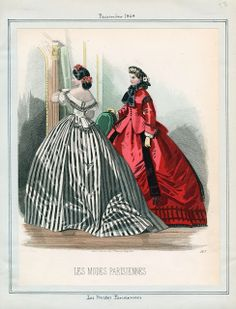 In the Swan's Shadow: Peterson's Magazine, December 1864  Civil War Era Fashion Plate