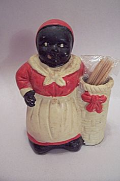 Aunt Jemima Black African Collectible Toothpick Holder. Click on the image for more information.