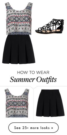 """summer outfit :D"" by amyleonardcormican on Polyvore featuring Alexander Wang, Glamorous, women's clothing, women, female, woman, misses and juniors                                                                                                                                                      More"