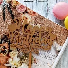 Happy Birthday Gold Topper