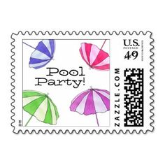 Pool Party Stamp
