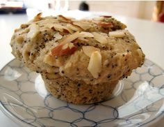 chia seed and banana muffins