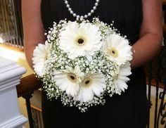 White Gerber Daisy Bouquet   white-gerbera-daisy-bouquets - Silk Gerber Daisies