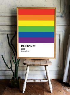 Pantone Pride Print instant download | Etsy Pantone Color Chart, Trans Pride Flag, Pansexual Pride, Queer Art, Thing 1, Lesbian Pride, Printable Art, Printables, Rainbow Pride