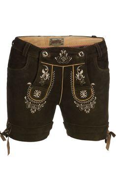 Trachten LEDERHOSEN Elfi Leather Shorts antique