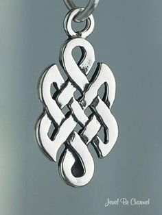 Celtic Charm Sterling Silver Small Endless Knot by jewelbecharmed