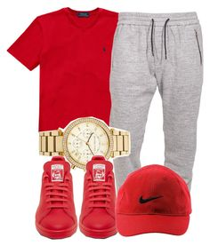 A menswear look from June 2016 featuring v neck t shirts, watch bracelet and adidas sneakers. Browse and shop related looks. Dope Outfits For Guys, Swag Outfits Men, Tomboy Outfits, Nike Outfits, Trendy Outfits, Cool Outfits, Teen Boy Fashion, Tomboy Fashion, Men's Fashion