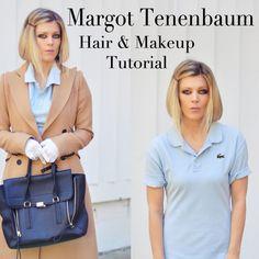 Margot Tenenbaum hair and makeup tutorial for an easy last-minute Halloween costume.