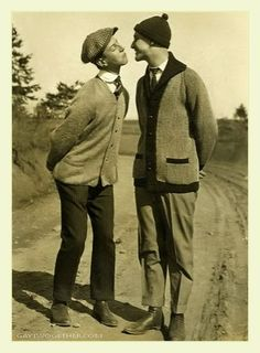 Vintage Photo Memories - Men Twogether  @Sarah Chintomby Leonard this reminds me so much of Paul and Chris. Mainly because the guy on the right... looks like Chris.