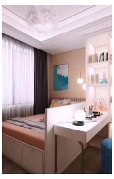 Small Bedroom Interior, Bedroom Decor For Small Rooms, Small House Interior Design, Home Room Design, Small Bedroom Wardrobe, Very Small Bedroom, Small Girls Bedrooms, Wardrobes For Small Bedrooms, Bedroom Girls