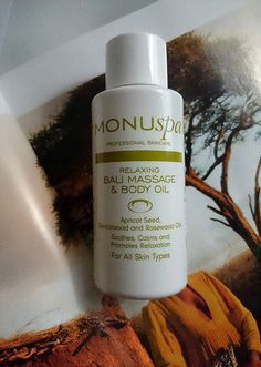 MONUSPA Relaxing Bali Massage & Body Oil - for calming and soothing the body. Combination of Almond Seed, Sandalwood and Rosewood Oils. LookFantastic Beauty Box - February #LFLOVES  valvybes.com