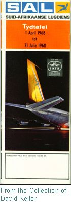 SAA Time Tables 1968