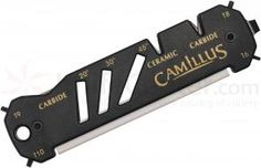 Camillus 19224 Glide Hook, Knife, and Shear Sharpener, Ceramic and Carbide