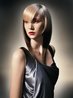 I love the different blondes and the interplay of color and lengths in the fringe. From Deco Deluxe #Sassoon#Hair