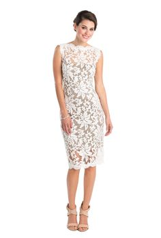 0c46d10c7408 An ivory and grey lace dress that s perfect as a casual
