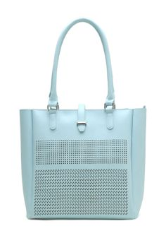 Tosca Handbags Perforated Flap Shoulder Bag
