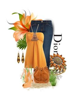 """* DIOR & Bijoux Sunflower Ring *"" by hrfost1210 on Polyvore"