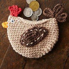 Cluck change purse crochet pattern
