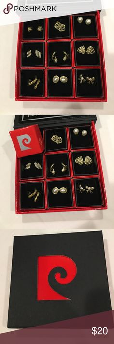 🆕 Pierre Cardin earrings Pierre Cardin earrings. Set of nine post earrings. Designs range from knots to hopes to pearl studs. Great little assortment. Each pair individually boxed - keep for yourself or give a pair as a gift. NIB. Pierre Cardin Jewelry Earrings