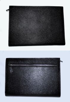 Other Womens ID and Doc Holders 169289: Campo Marzio -100% Saffiano Leather Medium Size Document Holder-Black-Brand New -> BUY IT NOW ONLY: $80 on eBay!