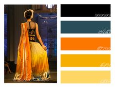 Royal Blue Amp Luxurious Orange Lengha Color Palette Monday