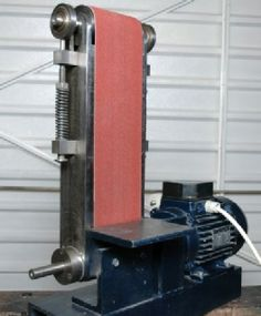 A Belt Sander From Scrap Parts