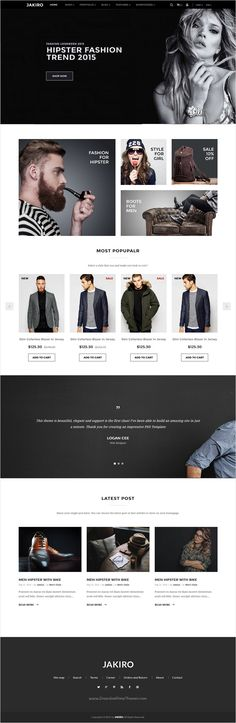 Jakiro is a clean and modern design responsive #Bootstrap HTML #theme for amazing #eCommerce website with 7 different homepage layouts download now➩ https://themeforest.net/item/jakiro-multi-store-responsive-html-template/18264748?ref=Datasata