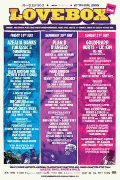 Lovebox Line Up 2013: I was part of the small but dynamic team that produced one of the most ambitious Lovebox Festival to date