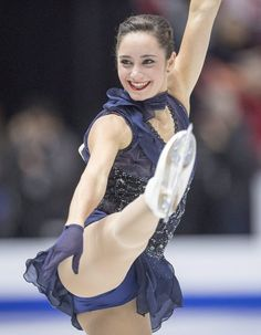 MISSISSAUGA, Ontario — Canadian star Patrick Chan won the Skate Canada short program Friday night, and Russia's Evgenia Medvedeva took th Gymnastics Poses, Gymnastics Photography, Gymnastics Pictures, Sport Gymnastics, Artistic Gymnastics, Hot Figure Skaters, Figure Skating, Kaetlyn Osmond, Edgy Outfits