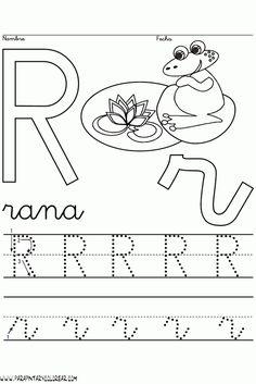 primeroluisdegongora: La direccionalidad de las letras Kindergarten Worksheets, Alphabet, Symbols, Letters, Education, Books, Reading Activities, Abc Centers, Literacy Activities