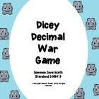 Dicey Decimal War is a game that will have students practicing comparing and ordering decimal numbers in a way that is fun and engaging.  I have pl...
