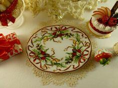 $11.57  Dollhouse Miniature Tiffany Holiday Porcelain Tray