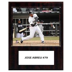 C and I Collectables MLB 15W x 12H in. Jose Abreu Chicago White Sox Player Plaque - 1215JABREU