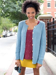 Watson Cardigan Free Knitting Pattern - Knit in Cotton, perfect for warm weather months!