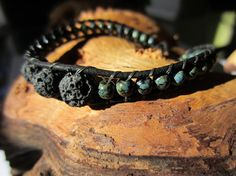 Aromatherapy bracelet.  Add essential oil to the lava beads.  Great gift! Available in my etsy shop.