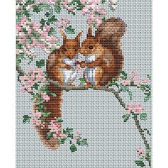 "The Natural World Squirrel's Secrets Counted Cross Stitch Ki-5.7""X7"" 14 Count"