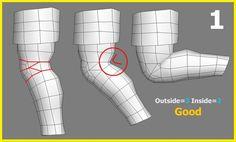 遊戲模型佈線對動作變形之影響(1)-手肘膝蓋篇 - 外3內2_by 天國鳥人(bida999)_from 痞客幫 (http://bida999.pixnet.net/blog)_點開有說明