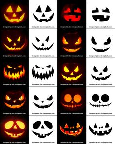 290 Free Printable Pumpkin Carving Stencils Patterns Designs Faces Ideas