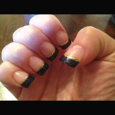 Navy and gold nails for Tyler and @Clare Johnson