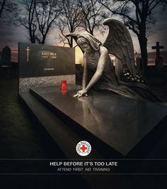 Help Before It's Too Late. The message strikes through the heart, doesn't it? This advertisement is a jewel.