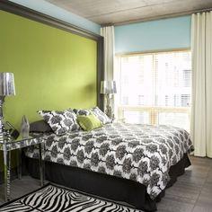 Сочные зеленые акценты в спальнях - 59 Стильные идеи | DigsDigs